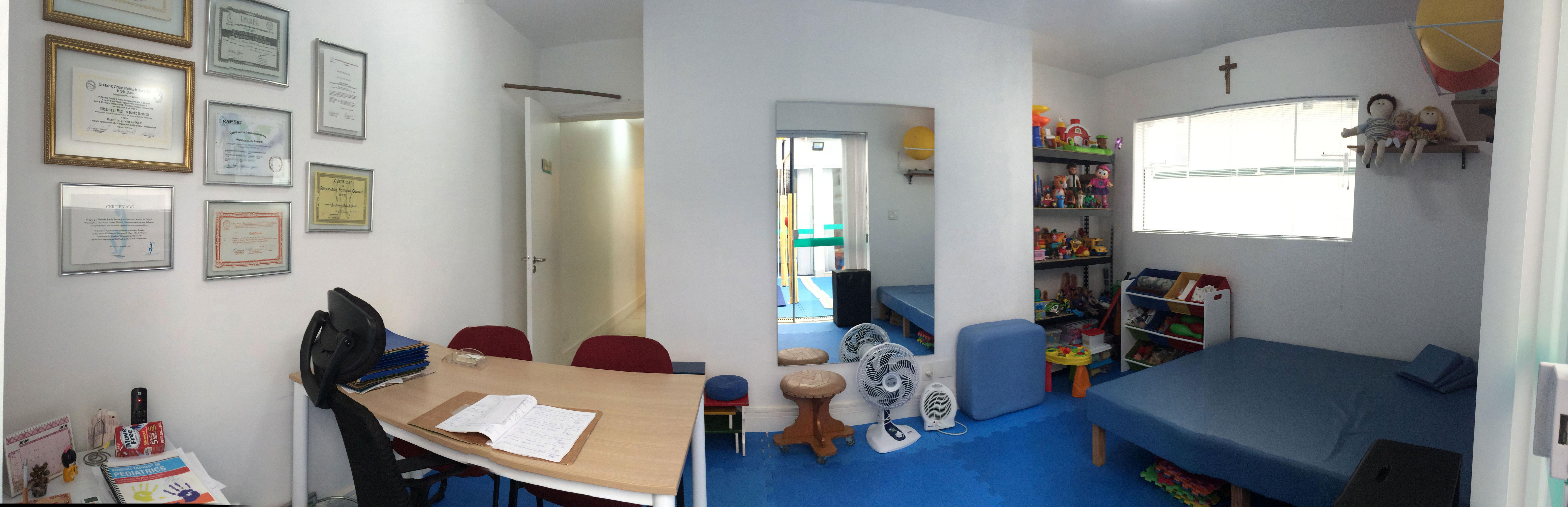 Salas modernas de reabilitação