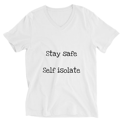 Self Isolate - Just Go Sailing -Unisex Short Sleeve V-Neck T-Shirt