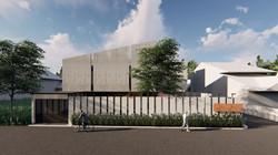 FVS Main facade - minimalist material