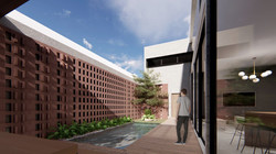 FVS Backyard facade - minimalist material