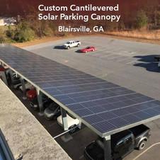 Custom Cantilevered Solar Parking Canopy,  Blairsville, GA