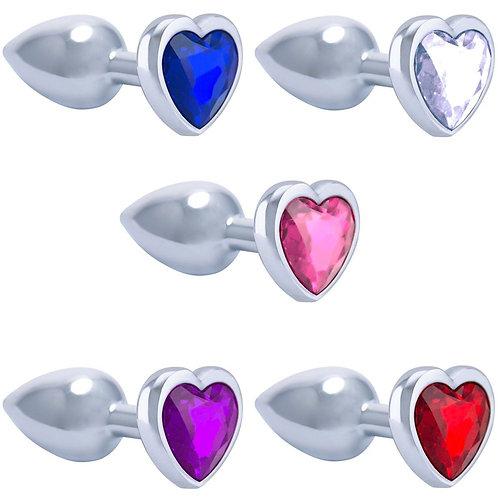 Plug Em Metal Cromado Coração