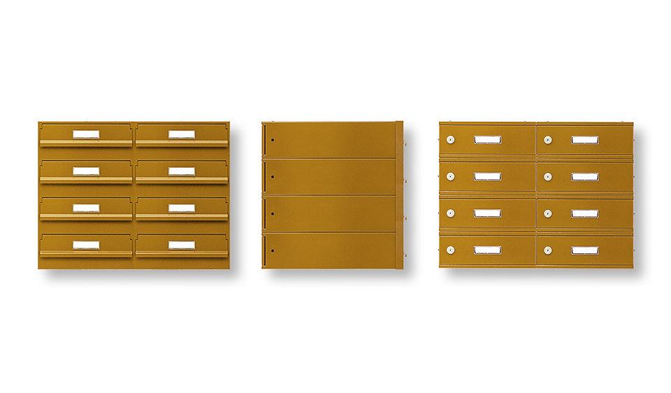 Poštovníschránky -sestavy pro zabudování do zdi