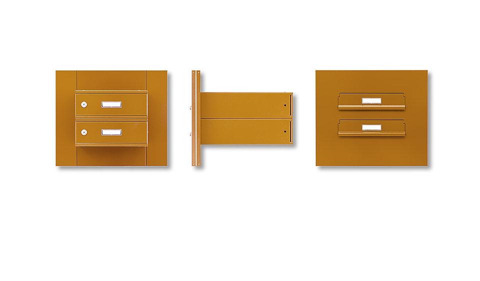 Poštovní schránky -sestavy v panelu do vchodových dveří- rovné
