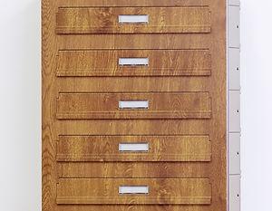 Poštovní schránky v sestavě pro bytové a panelové domy - dekor zlatý dub