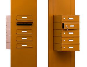 Poštovní schránky v sestavě pro bytové a panelové domy
