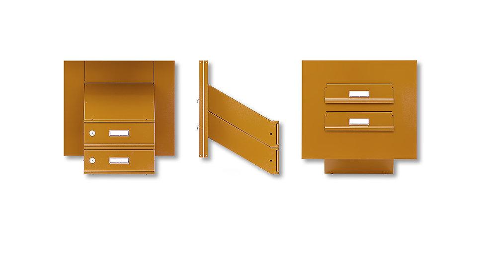 Poštovní schránky -sestavy v panelu do vchodových dveří- šikmé