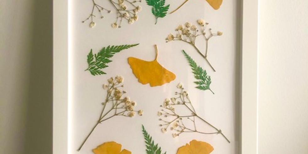 A LA DEMANDE   Tableau fleurs séchées