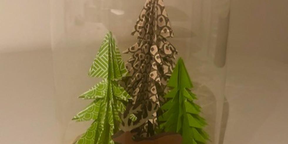A LA DEMANDE   Cloche sapin  origami
