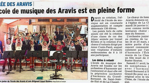 L'école de musique des Aravis est en pleine forme!