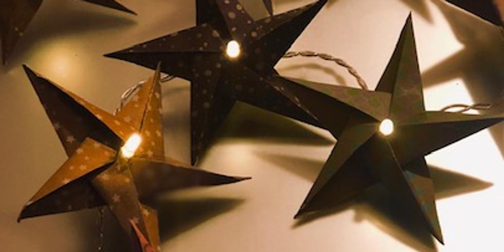 A LA DEMANDE     Guirlande d'étoiles   origami          (