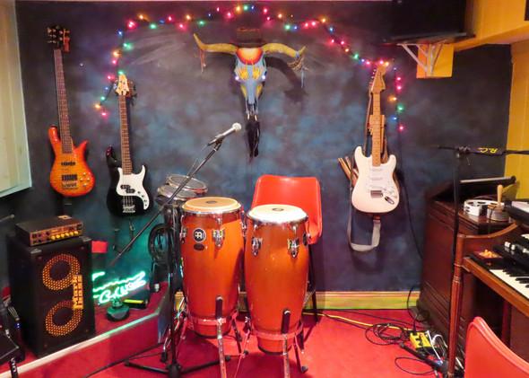 Percussion corner of the studio