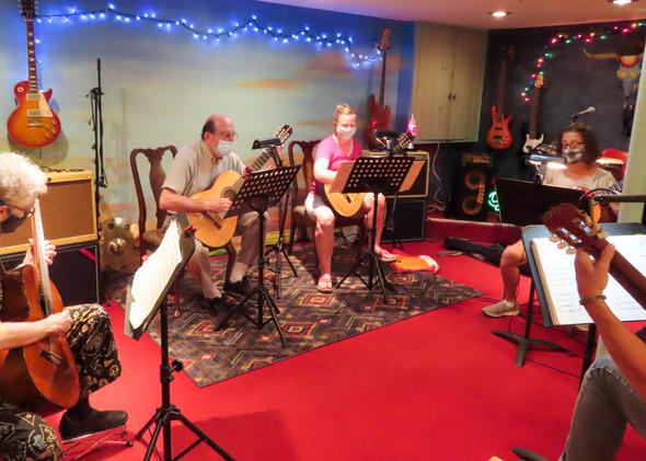 Guitar Quartet rehearsal