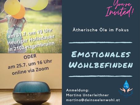 """Ätherische Öle im Fokus - Vortrag """"Emotionales Wohlbefinden"""""""