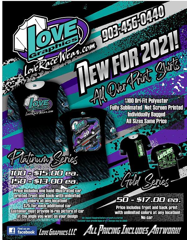 Love Graphics Racing all over print pric