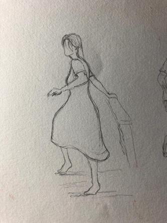 The woman's original outline.