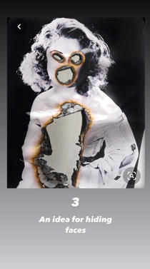 Idea for the man & woman's facial distortion.