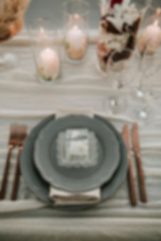Greek Island elopement - tablescape
