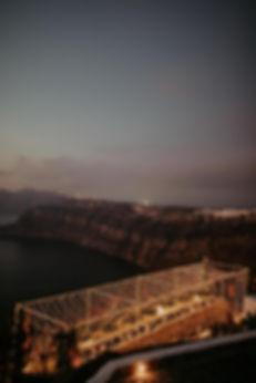 A magical Santorini destination wedding - fairy light installation