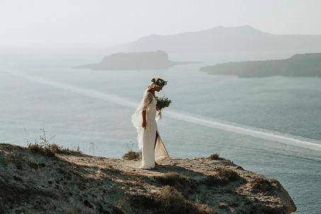 Greek Island elopement - bridal photoshoot