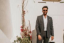Greek Island elopement - groom portrait