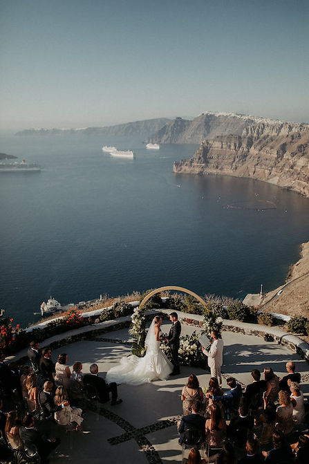 A magical Santorini destination wedding - Ceremony