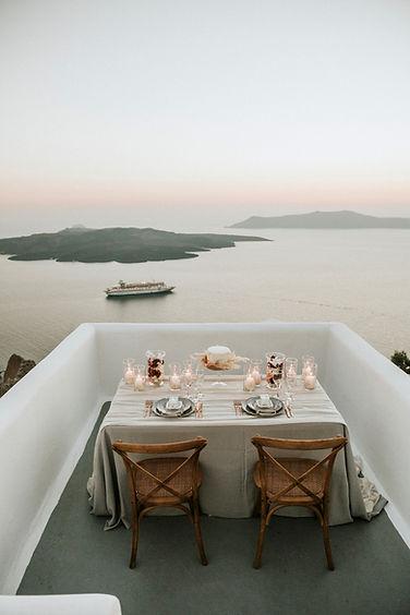 Greek Island elopement - private dinner