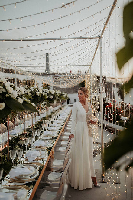 A magical Santorini destination wedding