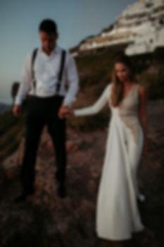 A magical Santorini destination wedding