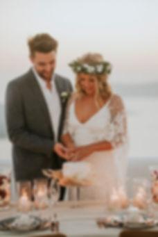 Greek Island elopement - wedding reception