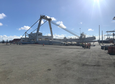 Global Rigging & Transportation (GRT) Successfully Demolishes 180ft Ship to Shore Crane in San Juan