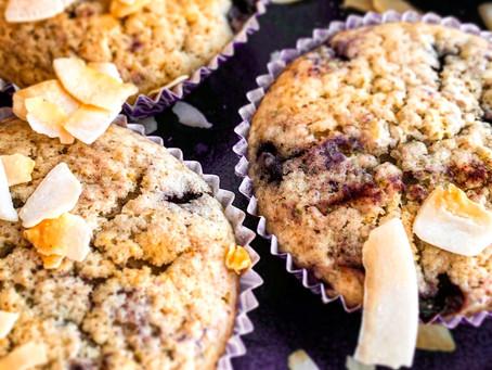 Organic, Gluten-Free, Vegan, Blueberry Muffins