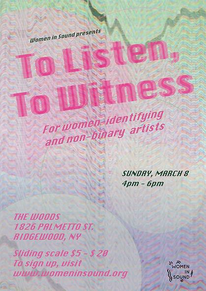 WIS-ToListen, ToWitness- Poster-Final2.j