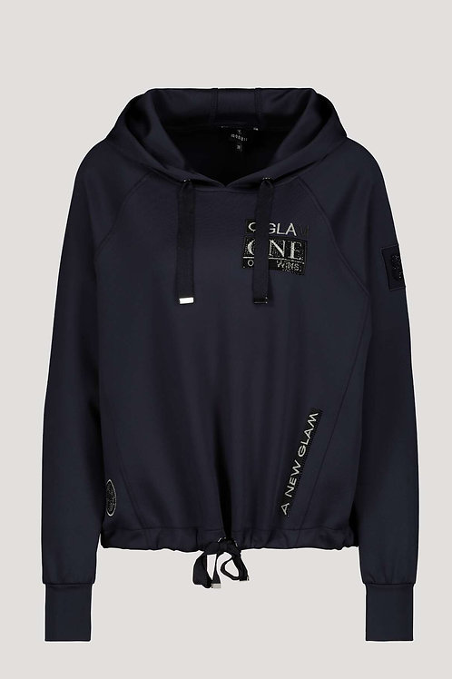 Monari Glam Navy Hooded Top