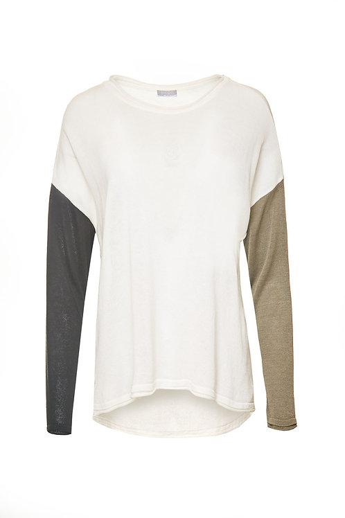 Naya Contrast Sleeve Knit