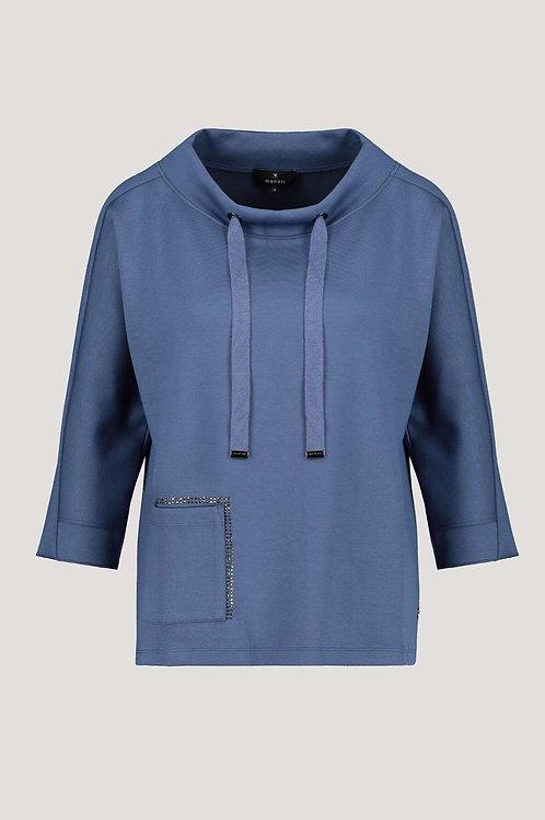 monari loungewear casual blue hoodie toggle sweatshirt stockists NI Jude Law Boutique Magherafelt