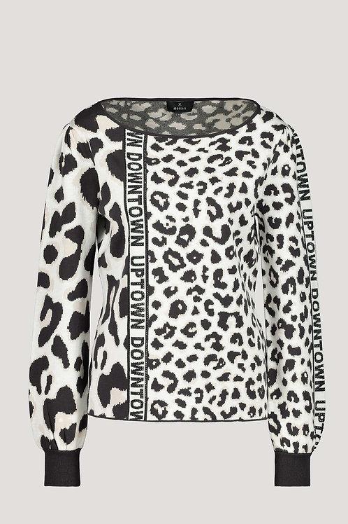 Monari Leopard Print Knit