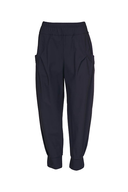 Naya Black Cuffed Travel Fabric Trousers