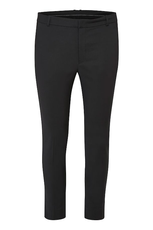 Inwear Zella straight leg trouser classic black split JLB Jude Law Boutique Magherafelt