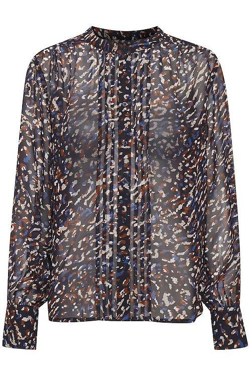 Part Two navy ganja shirt blouse sheer patterned buttoned JLB Jude Law Boutique Magherafelt