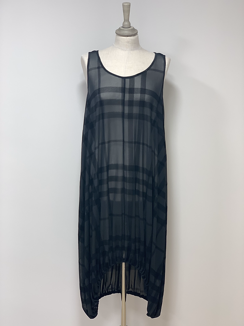 elsewhere checked sheer dress layering layer midi long JLB Jude Law Boutique JLB Magherafelt