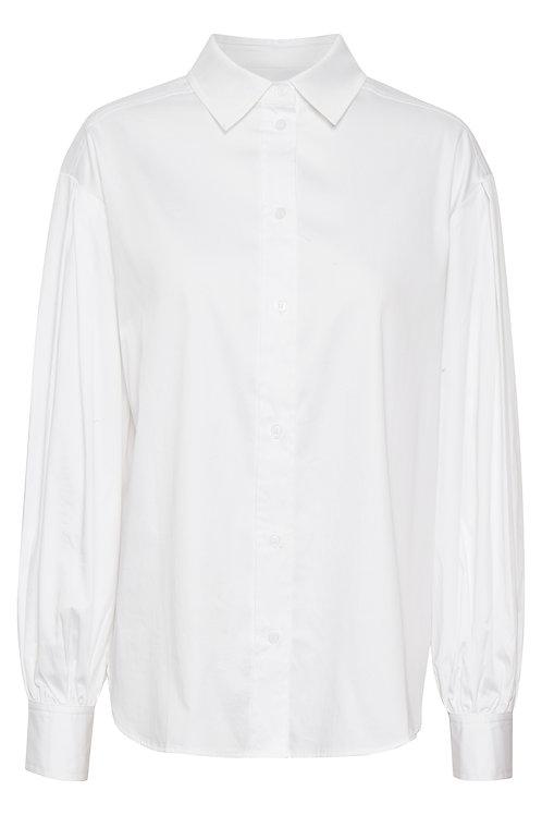 part two bright white gya shirt puff sleeve volume button JLB Jude Law Boutique Magherafelt