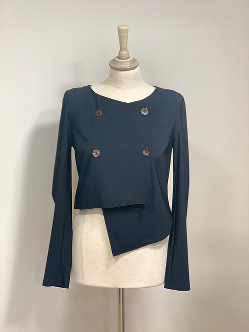 elsewhere cropped jacket button long sleeve travel fabric Jude Law Boutique JLB Magherafelt