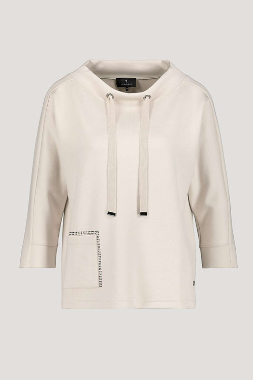 monari loungewear casual cashew hoodie toggle sweatshirt stockists NI Jude Law Boutique Magherafelt