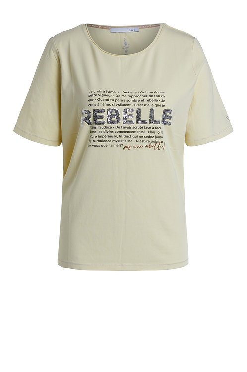 Oui robelle tee slogan pink lemon short sleeve t-shirt jersey JLB Jude Law Boutique Magherafelt NI