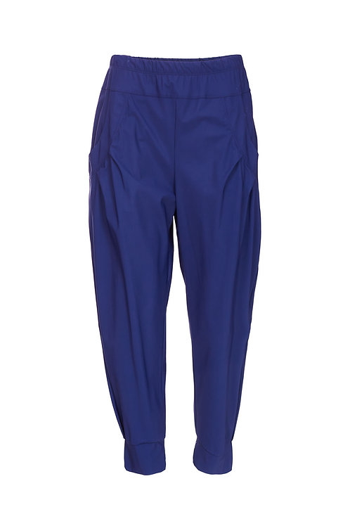Naya French Blue Cuffed Travel Fabric Trousers