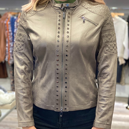 Eva Kayan Green Faux Leather Jacket
