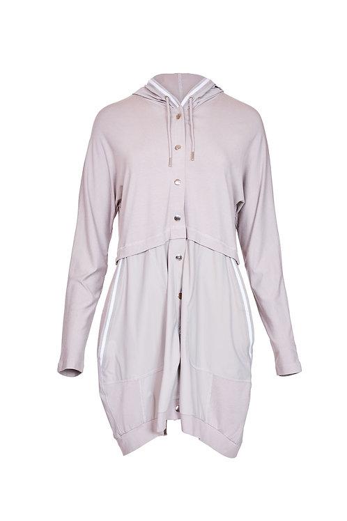 Naya Stone Contrast Trim Longline Jacket