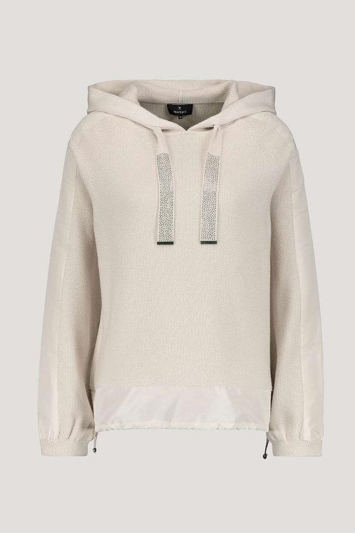 monari stone knit hoodie sweatshirt toggle loungewear casual silk JLB Jude Law Boutique stockists NI Magherafelt