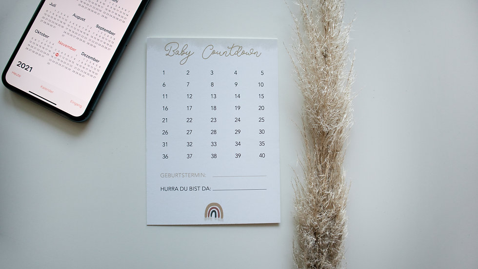 "Postkarte ""Countdown"""